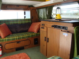 Interior of a 1978 VW Bus